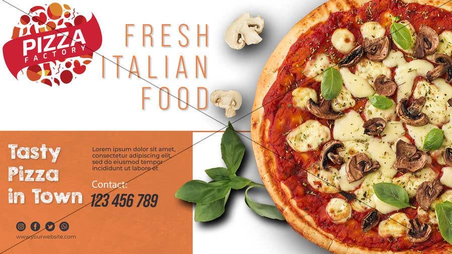 Kilpailutyö #                                        90                                      kilpailussa                                         Branding mockups for Pizza company