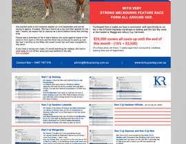 #40 para Racehorse Shares for Sale - Electronic Flyer por miloroy13