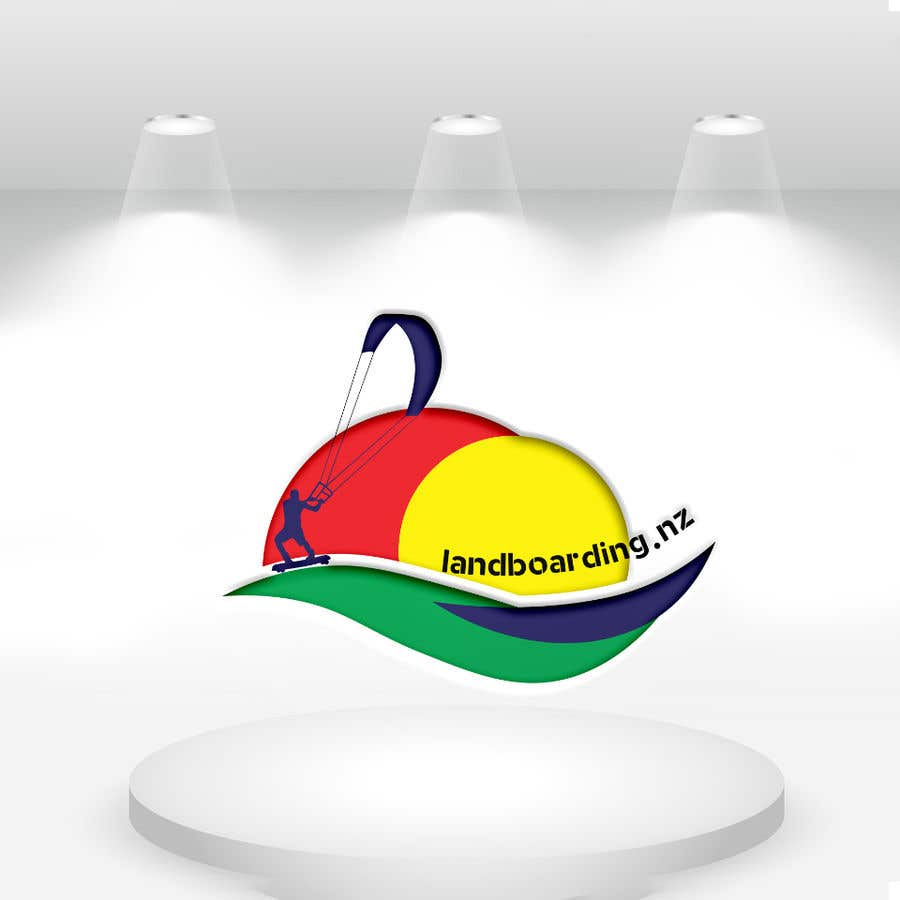 Penyertaan Peraduan #                                        3                                      untuk                                         Logo design for Kite Landboarding, e.g. Kitesurfing, mountainboarding
