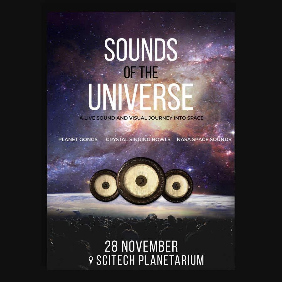 Kilpailutyö #                                        97                                      kilpailussa                                         Design an A3 poster for a live music event with space theme.