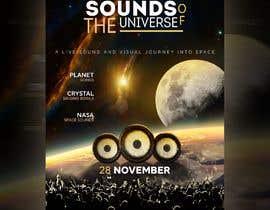 Nro 127 kilpailuun Design an A3 poster for a live music event with space theme. käyttäjältä tonmoyrana080
