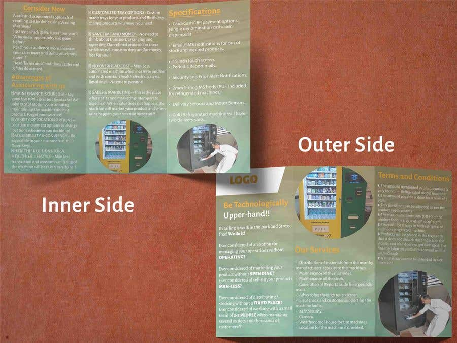 Contest Entry #                                        11                                      for                                         Design a Product brochure. A4 paper size for each page.