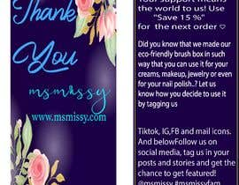 #56 for I need to create an insert/thank you card by arafatsaiful123