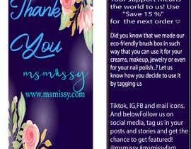#56 untuk I need to create an insert/thank you card oleh arafatsaiful123