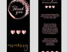 #66 untuk I need to create an insert/thank you card oleh graphicmist20
