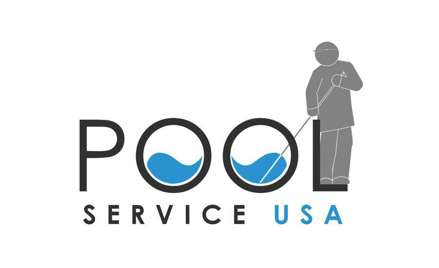 Konkurrenceindlæg #                                        50                                      for                                         Pool Service USA Logo