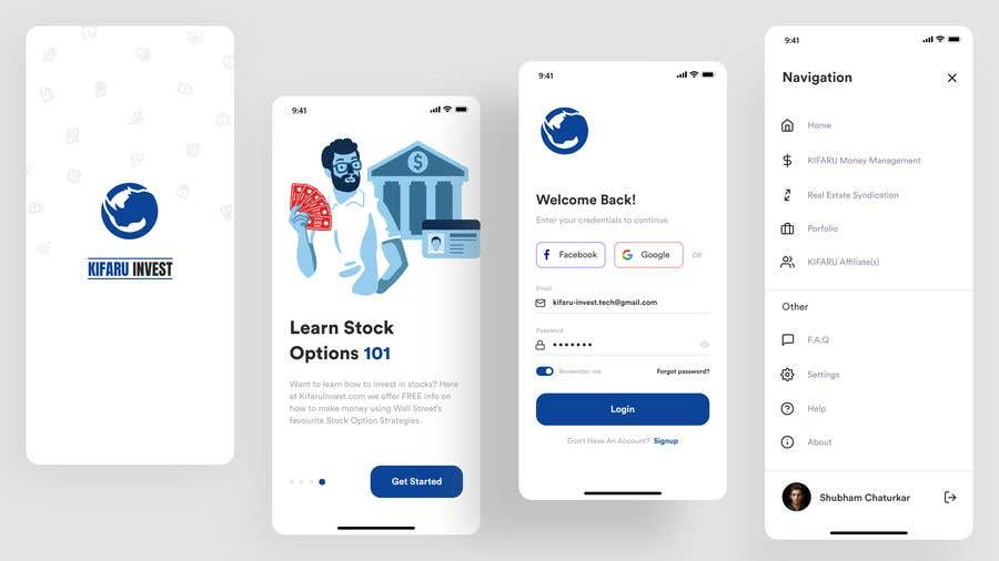 Contest Entry #                                        7                                      for                                         DESIGN: On-boarding, UI/UX, and Demo Text Mobile App Design