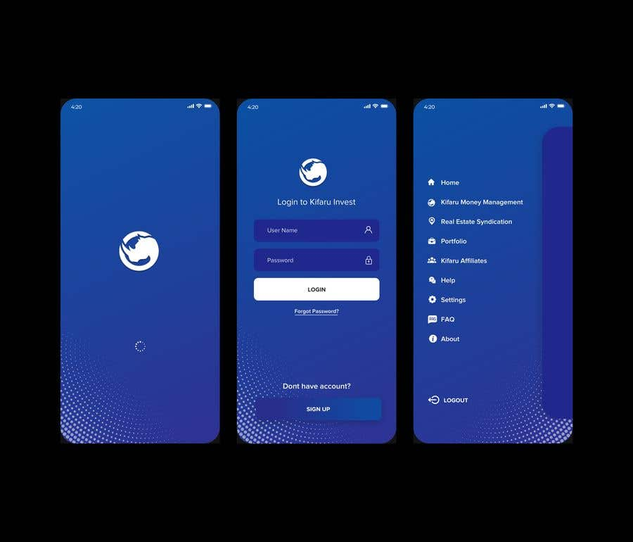 Contest Entry #                                        21                                      for                                         DESIGN: On-boarding, UI/UX, and Demo Text Mobile App Design