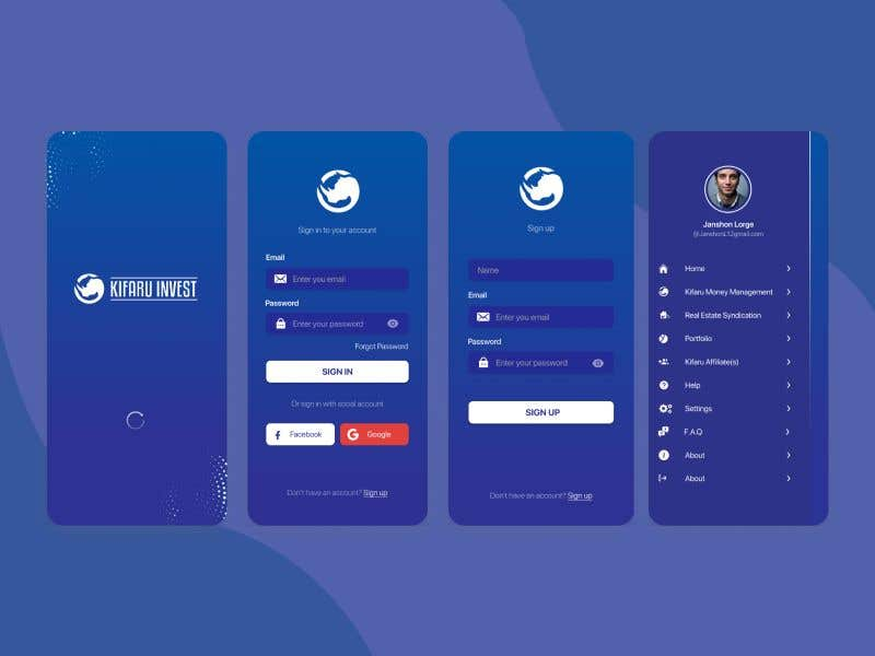 Contest Entry #                                        6                                      for                                         DESIGN: On-boarding, UI/UX, and Demo Text Mobile App Design