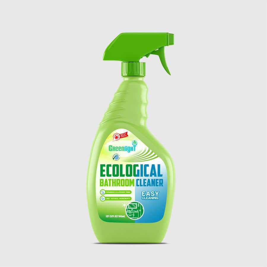 Contest Entry #                                        41                                      for                                         Green Cleaning Product line label