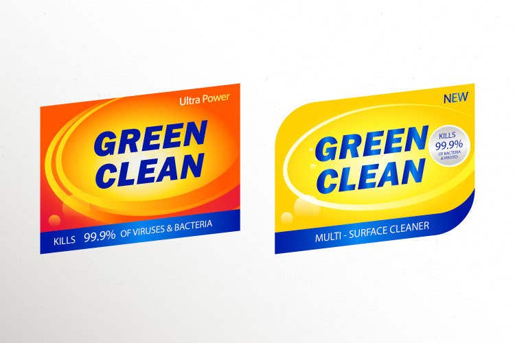 Contest Entry #                                        50                                      for                                         Green Cleaning Product line label