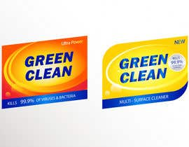 #50 for Green Cleaning Product line label by shihab98