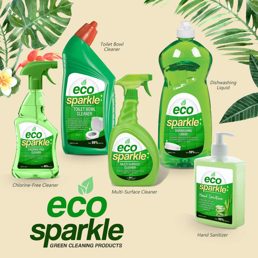 Contest Entry #                                        47                                      for                                         Green Cleaning Product line label