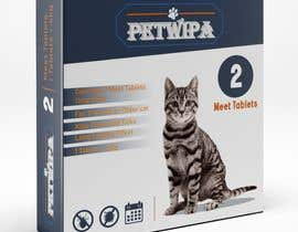 #23 untuk Design concept and 3D renders for a box containing 2 tablets against fleas and ticks for cats oleh Devchoudhary80