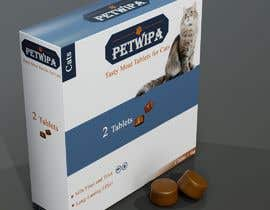 #21 untuk Design concept and 3D renders for a box containing 2 tablets against fleas and ticks for cats oleh ferdousshimu