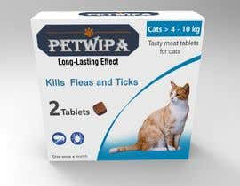 #12 untuk Design concept and 3D renders for a box containing 2 tablets against fleas and ticks for cats oleh siva3dworks