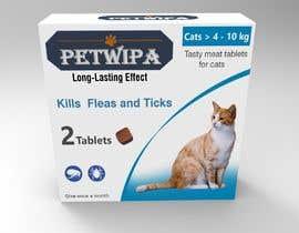 Nro 12 kilpailuun Design concept and 3D renders for a box containing 2 tablets against fleas and ticks for cats käyttäjältä siva3dworks