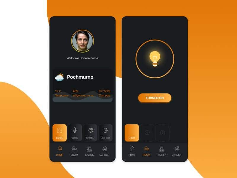 Contest Entry #                                        9                                      for                                         Mobile app design for smart home
