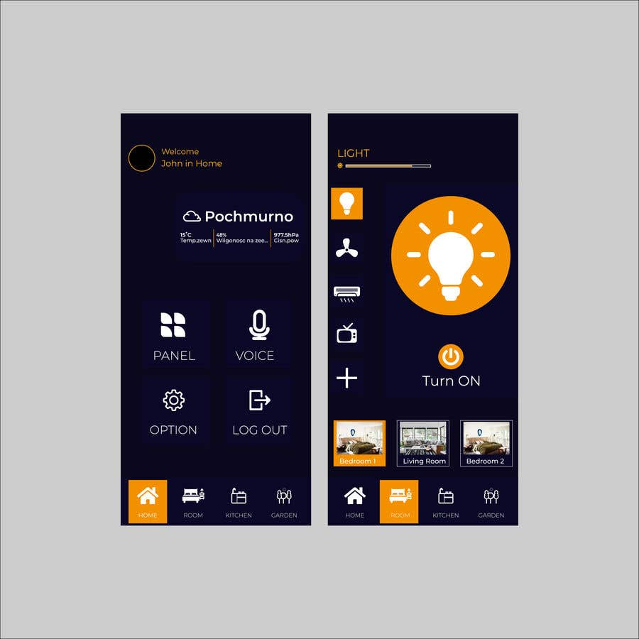 Contest Entry #                                        34                                      for                                         Mobile app design for smart home