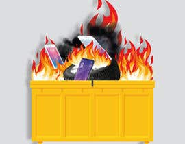 #22 for Dumpster Fire Icon by NoorjahanNadira