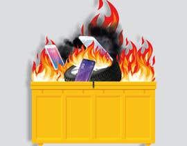 #22 for Dumpster Fire Icon af NoorjahanNadira