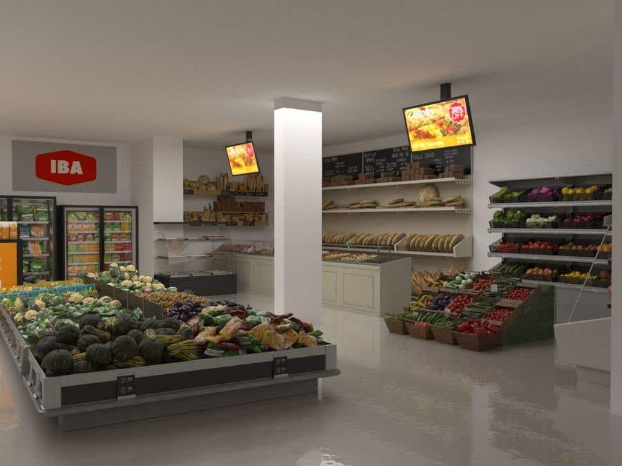 Inscrição nº                                         10                                      do Concurso para                                         Looking for a Supermarket Design/Layout/3D model with a space of 1,499sqm