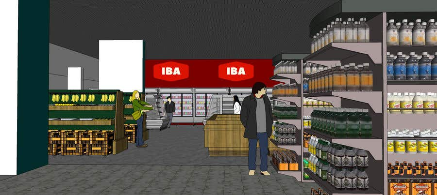 Inscrição nº                                         38                                      do Concurso para                                         Looking for a Supermarket Design/Layout/3D model with a space of 1,499sqm