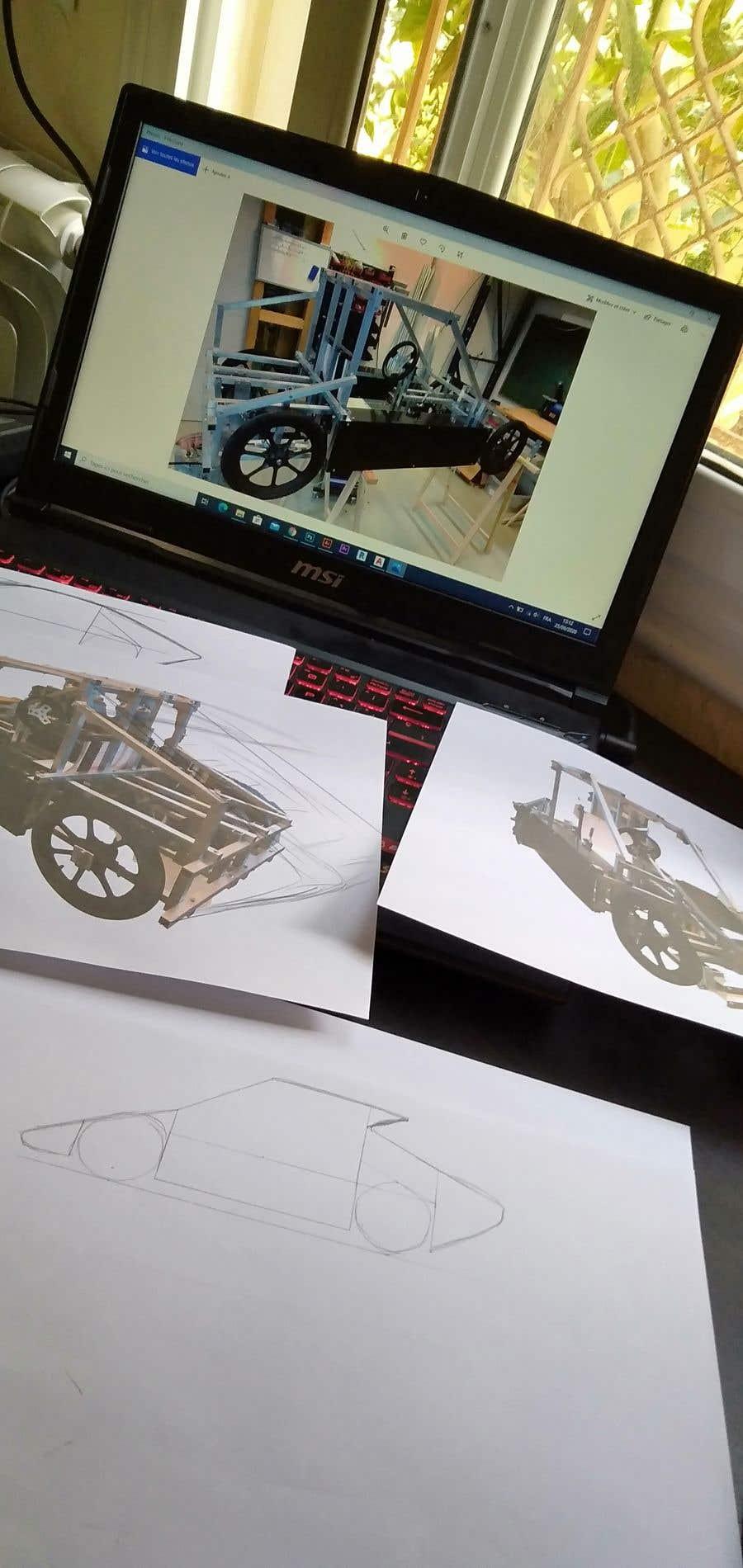 Contest Entry #                                        2                                      for                                         Design sketch for a tiny car for kids