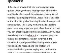 #23 untuk From English to Russian translator. oleh Azimkhan3580