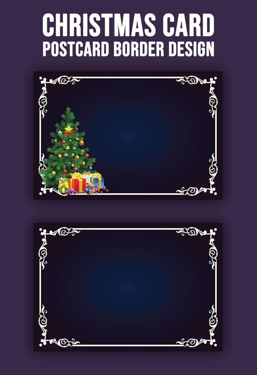 Contest Entry #                                        57                                      for                                         Christmas Card Postcard Border Design