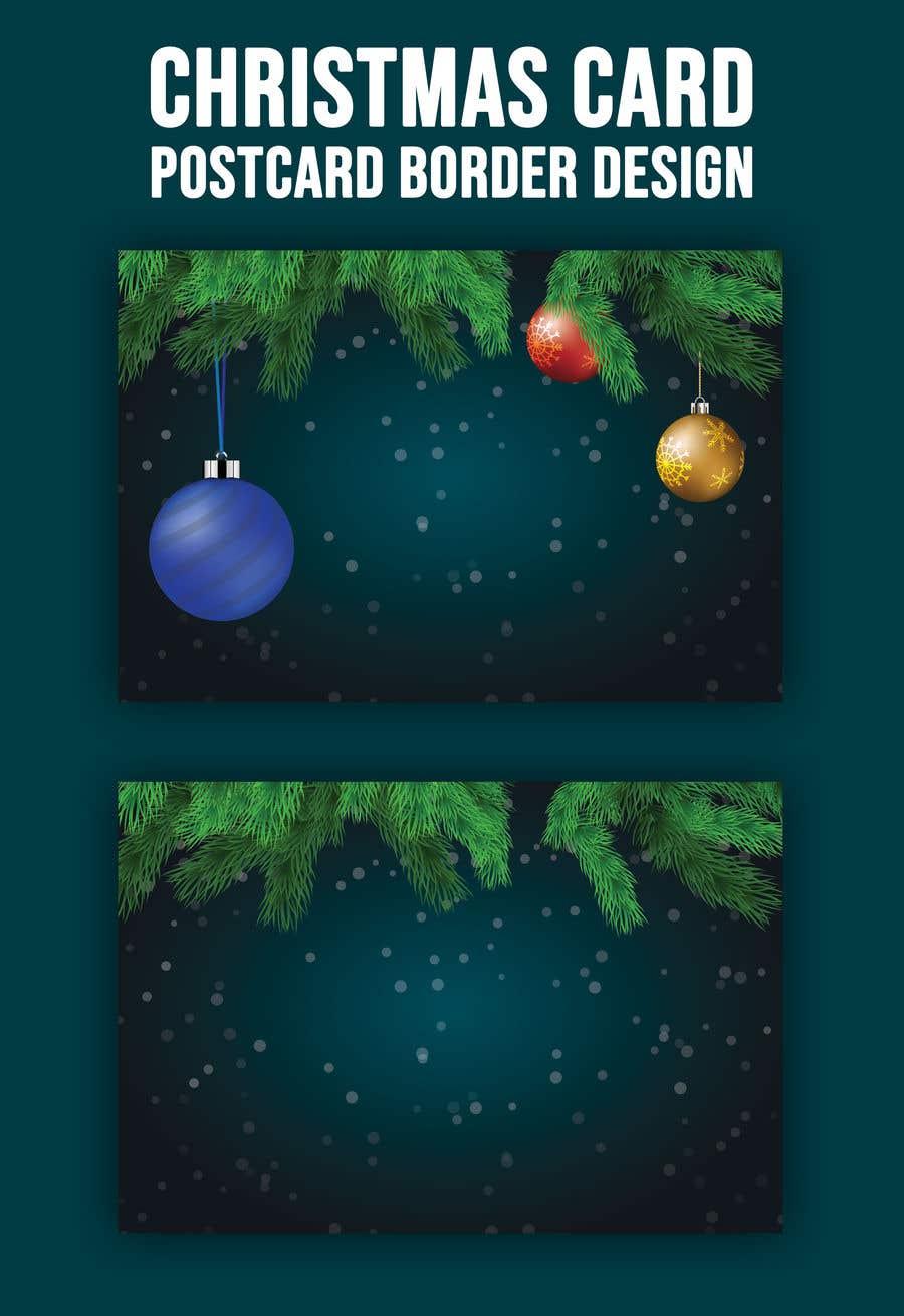 Contest Entry #                                        55                                      for                                         Christmas Card Postcard Border Design