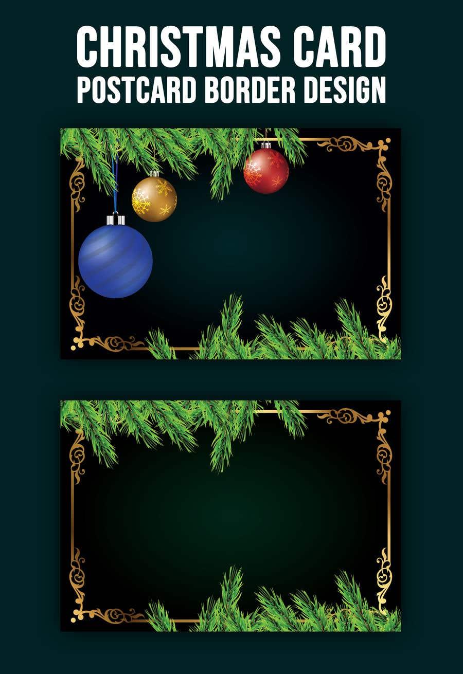 Contest Entry #                                        62                                      for                                         Christmas Card Postcard Border Design