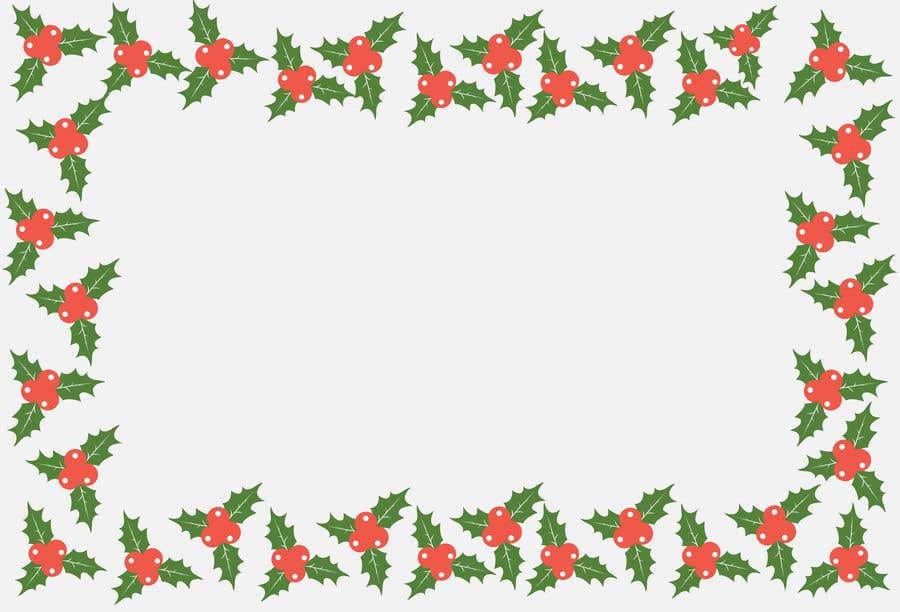 Contest Entry #                                        3                                      for                                         Christmas Card Postcard Border Design