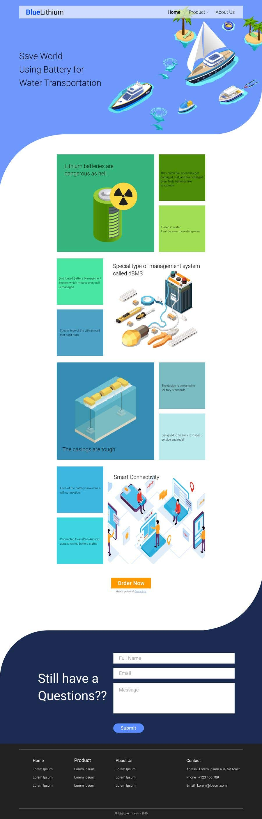 Bài tham dự cuộc thi #                                        39                                      cho                                         Explainer Website for Marine Battery startup product