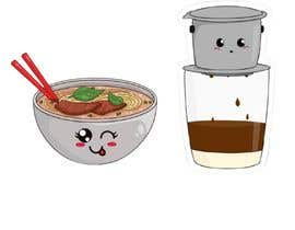 nº 3 pour 2 QUICK ILLUSTRATIONS: Cartoon Vietnamese Iced Coffee & Vietnamese Pho Bowl par Generatinx