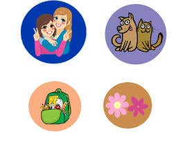 shaba5566 tarafından Round Sticker Creation!!! Unique kid friendly round stickers needed! Theme of stickers included için no 6