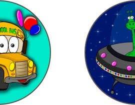 Araah tarafından Round Sticker Creation!!! Unique kid friendly round stickers needed! Theme of stickers included için no 12