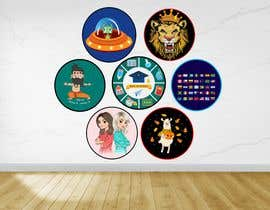 #30 untuk Round Sticker Creation!!! Unique kid friendly round stickers needed! Theme of stickers included oleh mshahanbd