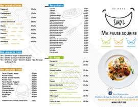nº 13 pour Créer un désign de menu sous forme de flyer A5 3 volets pour notre restaurant par zmdes