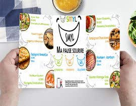 nº 23 pour Créer un désign de menu sous forme de flyer A5 3 volets pour notre restaurant par NazrulIslam52