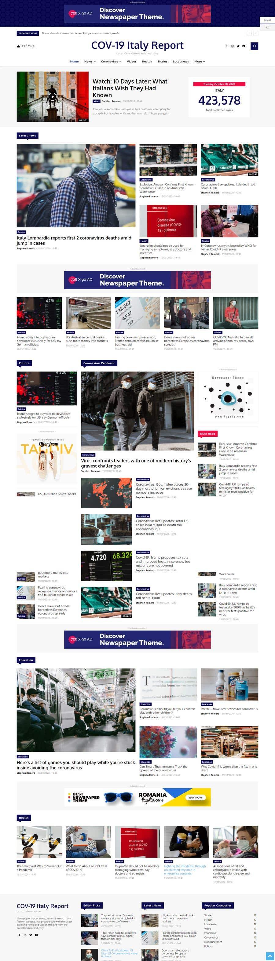 Contest Entry #                                        9                                      for                                         Drupal 9 - News Website - Blockchain News