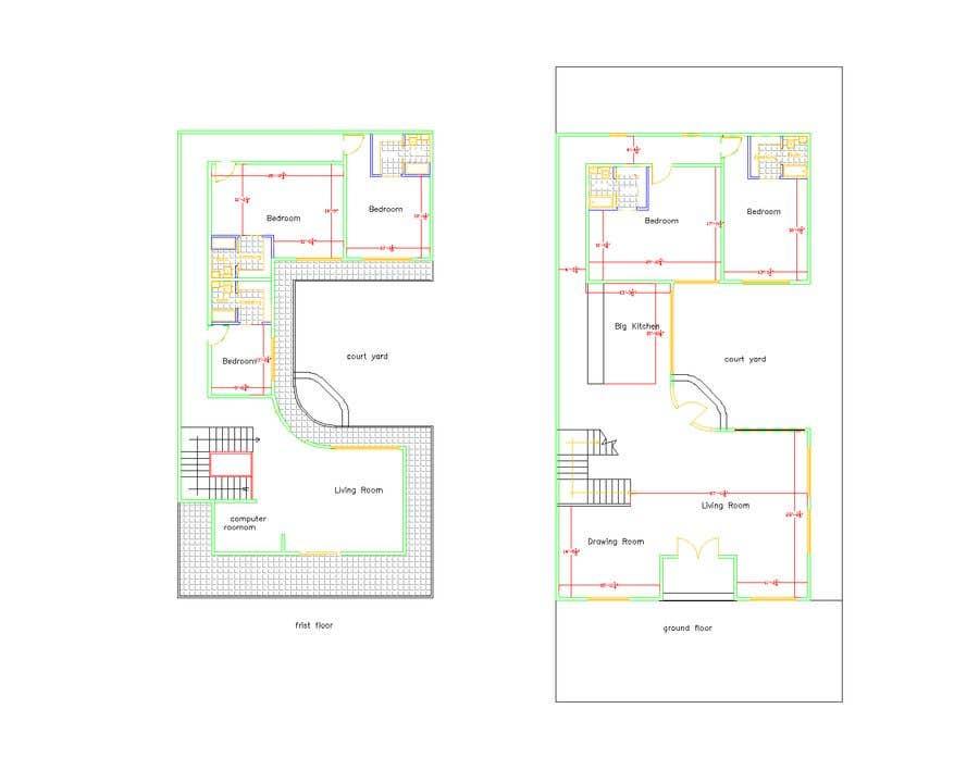 Proposition n°                                        2                                      du concours                                         Build me 2D Floor Plan for 2 Floor house!