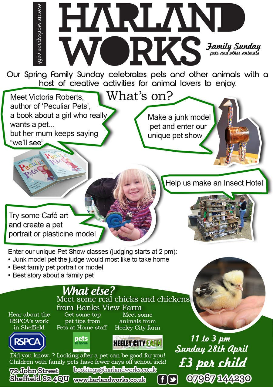 Contest Entry #                                        8                                      for                                         Flyer Design for Harland Works Spring Family Sunday