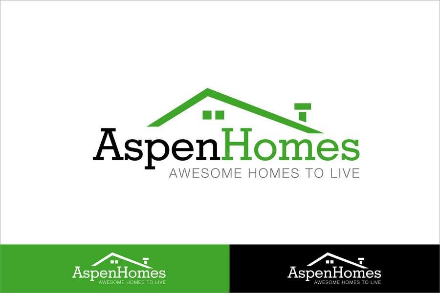Bài tham dự cuộc thi #                                        315                                      cho                                         Logo Design for Aspen Homes - Nationally Recognized New Home Builder,