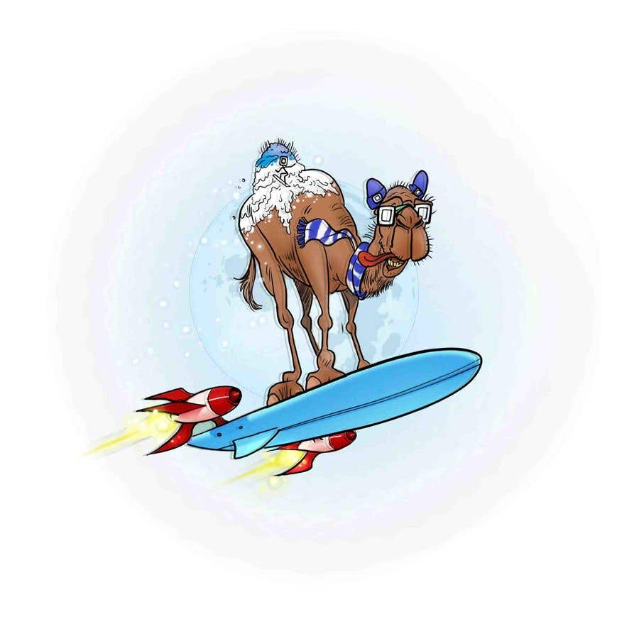 Contest Entry #                                        33                                      for                                         Design for Hoodie (Snowboarding Camel with mountains as humps)
