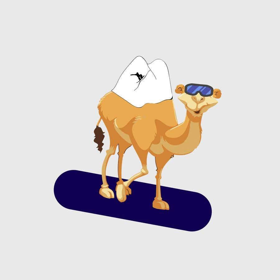 Contest Entry #                                        14                                      for                                         Design for Hoodie (Snowboarding Camel with mountains as humps)