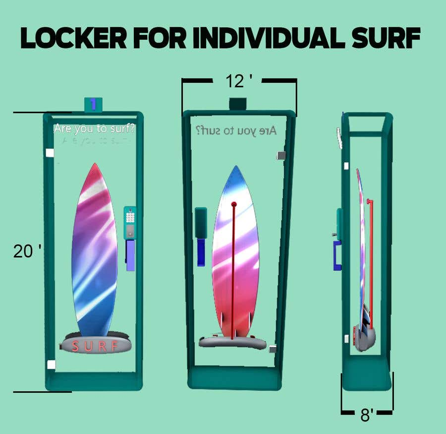 Proposition n°                                        3                                      du concours                                         Design a Surfboard Locker for the Sharing Economy