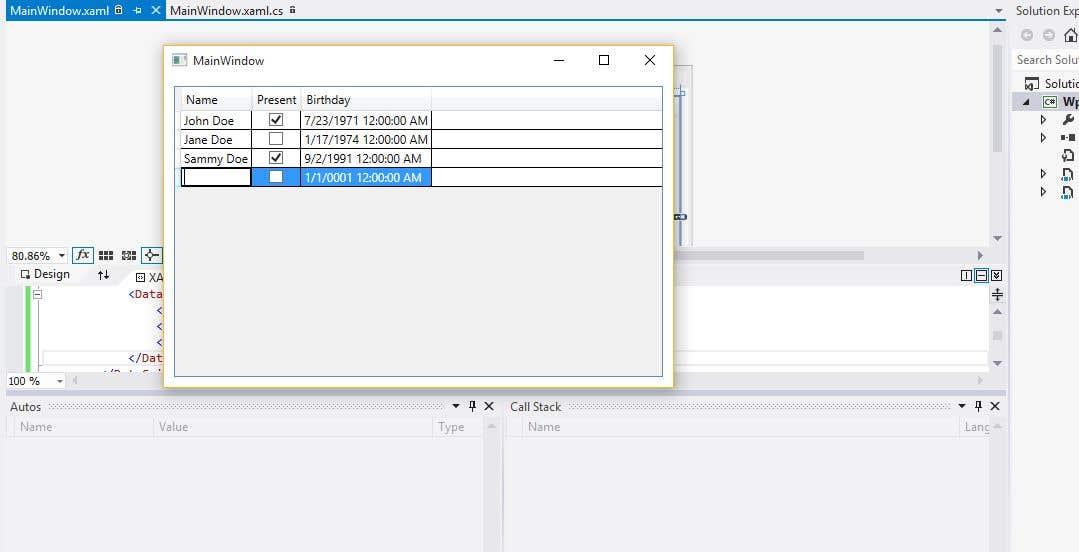 Kilpailutyö #                                        3                                      kilpailussa                                         Complex WPF Datagrid example