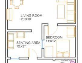 #49 para Reimagining the Floor Plan for My Home's Second Floor por tofagee979
