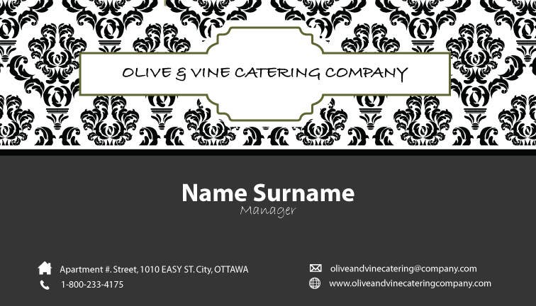 Print Contest Entry #6 for Business Card Design for Catering Company
